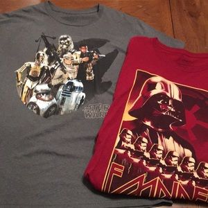 Set of 2 Star Wars Disney store tshirts-2xl